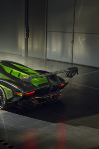 320x568 Lamborghini Essenza SCV12 2020 Rear