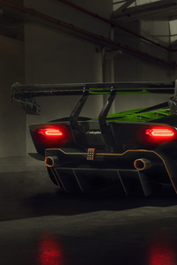 320x568 Lamborghini Essenza SCV12 Rear