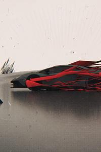 1440x2960 Lamborghini Glitch Art 4k