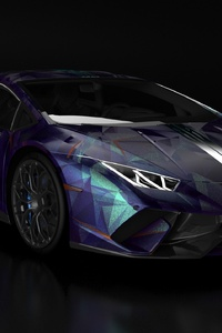Lamborghini Huracan Blue And Black