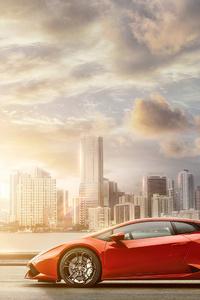 Lamborghini Huracan City 4k