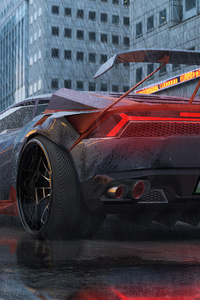 Lamborghini Huracan Digital Art 4k