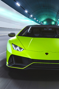 1242x2688 Lamborghini Huracan EVO Fluo Capsule 2020 4k