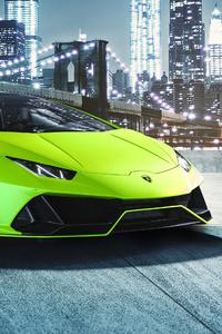 1242x2688 Lamborghini Huracan EVO Fluo Capsule 4k
