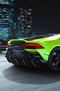 1242x2688 Lamborghini Huracan EVO Fluo Capsule Rear 4k