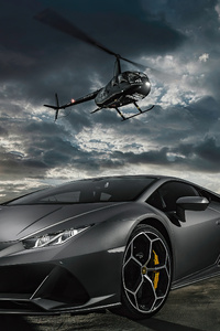 Lamborghini Huracan Evo Helicopter 4k