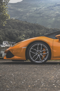 Lamborghini Huracan On The Road