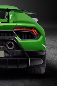 Lamborghini Huracan Performante 2019 Rear View