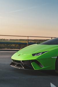 1280x2120 Lamborghini Huracan Performante Front 4k