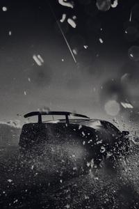 Lamborghini Huracan Performante Rear Monochrome