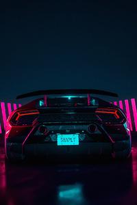 800x1280 Lamborghini Huracan Rear4k