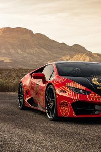 540x960 Lamborghini Huracan Red 2020
