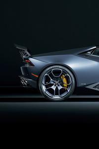 640x1136 Lamborghini Huracan Side View 5k