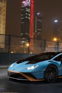 1440x2960 Lamborghini Huracan STO 2021