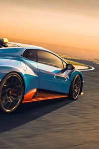 Lamborghini Huracan Sto Rear View 5k