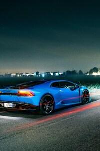 320x480 Lamborghini Light Trails