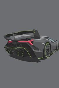 1080x2280 Lamborghini Minimalism Art