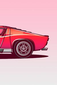 Lamborghini Miura Vector Illustration 5k