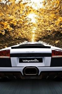 480x854 Lamborghini Motion Blur