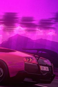 540x960 Lamborghini Murcielago Retro Art 4k