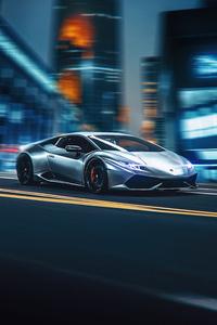 Lamborghini On City Road