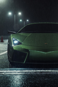 Lamborghini Reventon Rain 5k