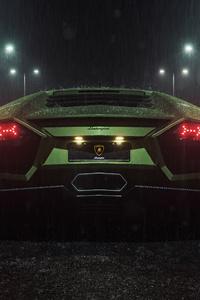 480x800 Lamborghini Reventon Rear Look 5k