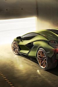 240x400 Lamborghini Sian 2019 8k Rear