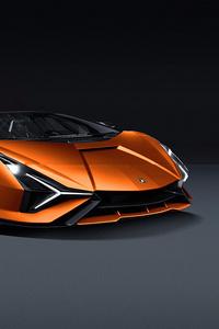 Lamborghini Sian 2019 Front View 4k