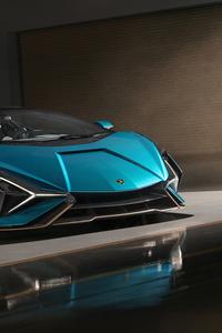 Lamborghini Sian Roadster 2020 Side View