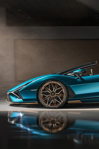 Lamborghini Sian Roadster 2020 Side View 8k