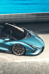 Lamborghini Sian Roadster 2020 Upper View