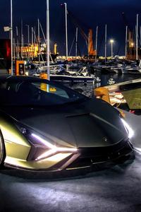 480x854 Lamborghini Sian Tecnomar 8k