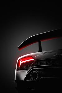 1242x2688 Lamborghini Tail Light Glowing 5k