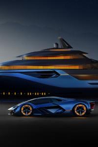 480x800 Lamborghini Terzo Millennio And Explorer Concept 4k