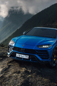 720x1280 Lamborghini Urus Blue