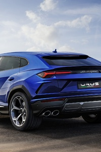 Lamborghini Urus Blue Color 4k