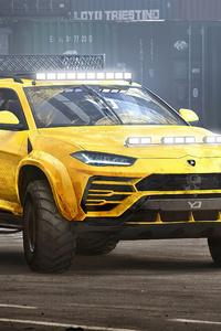 360x640 Lamborghini Urus Concept Art 4k