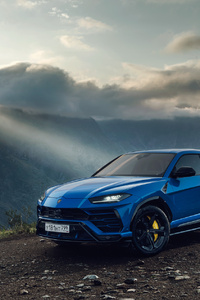 1440x2960 Lamborghini Urus SUV Blue 2019