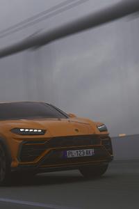 360x640 Lamborghini Urus SUV Orange