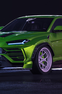 360x640 Lamborghini Urus Wide Body 4k