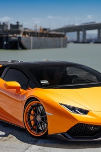 1125x2436 Lamborghini VAG Performante Huracan Orange