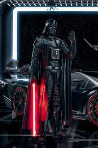 320x568 Lamborghini Veneno Darth Vader
