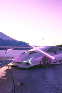 540x960 Lamborghini White Mountains