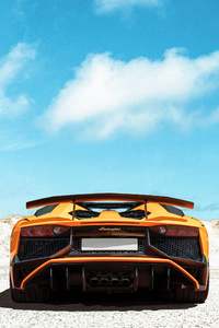 1080x1920 Lamborghini Yellow Rear