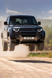 240x320 Land Rover Defender 90 V8 Carpathian Edition Jump