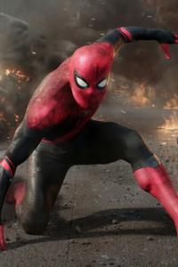 1440x2960 Landing Of Spidermans 5k