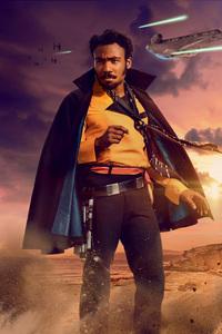 240x400 Lando Calrissian In Solo A Star Wars Story Movie 5k