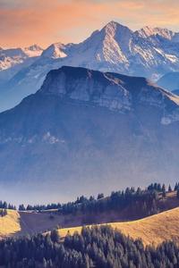 800x1280 Landscape Alpine Mountains Landscape 5k