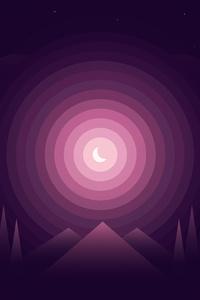 Landscape Dreamy Moon Minimalist 4k